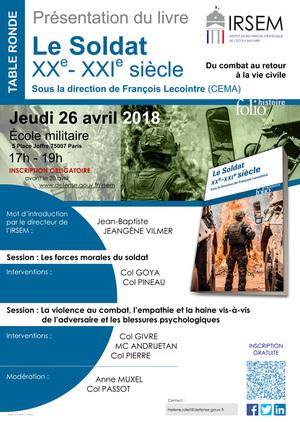 2018 04 26 Affiche Le Soldat Au XXe XXIe Siecle V1