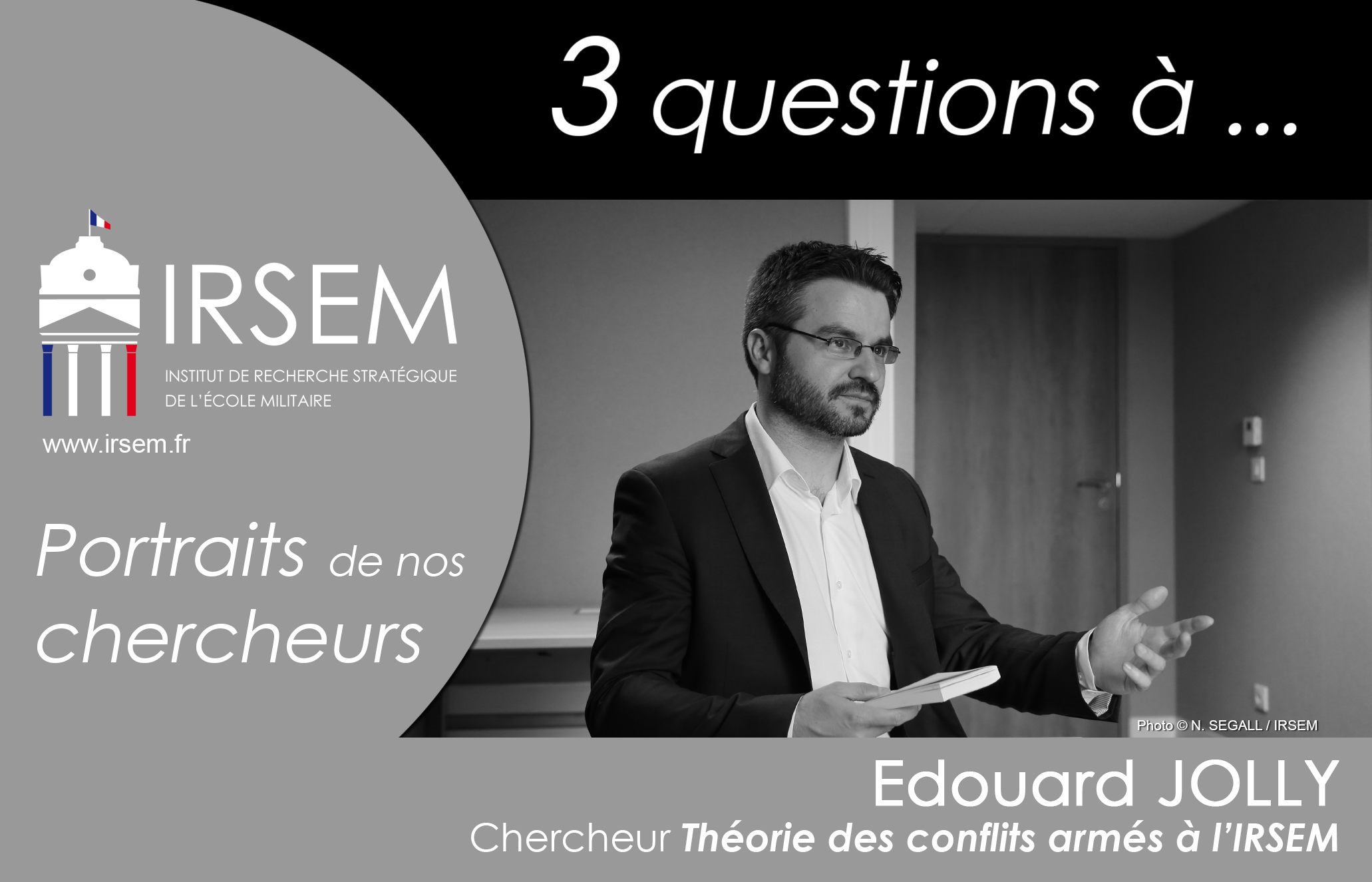 3 questions à ... Edouard JOLLY