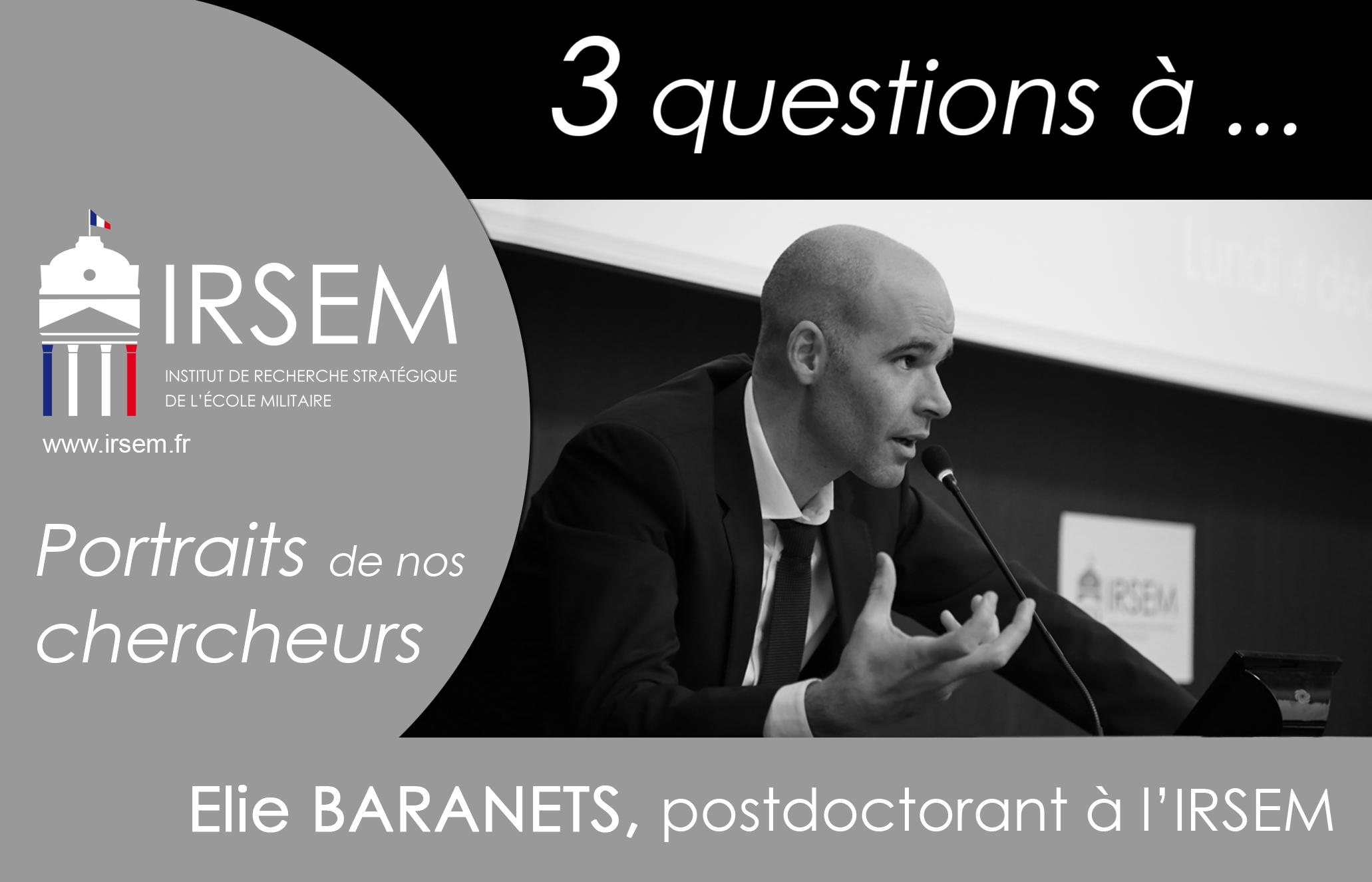 3 questions à ... Elie BARANETS