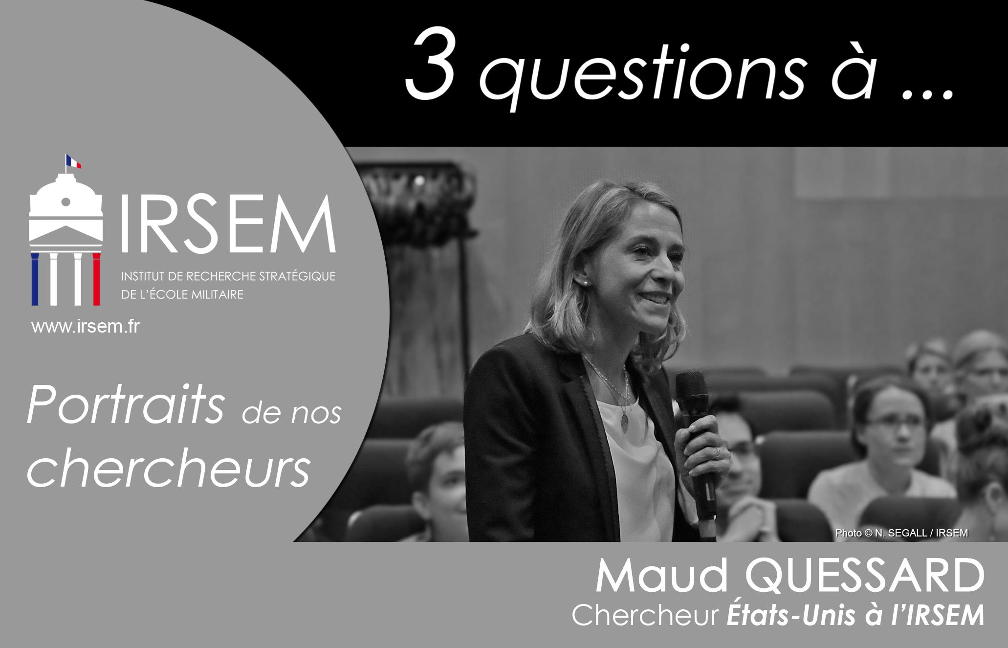 3 questions à ... Maud QUESSARD